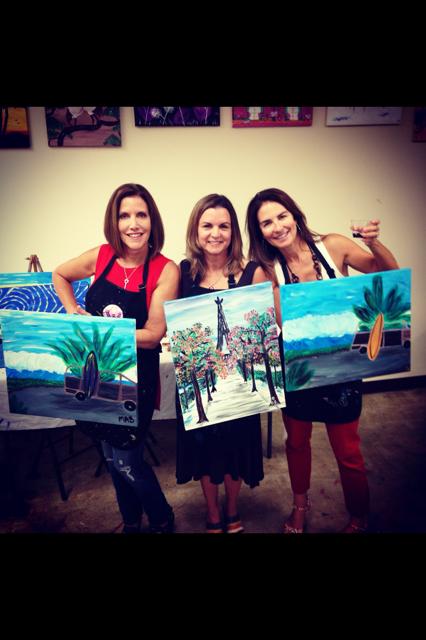 Maryann, Doreen and I channeling our inner artist