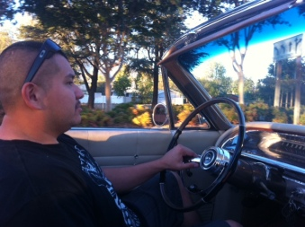 Jose behind the wheel