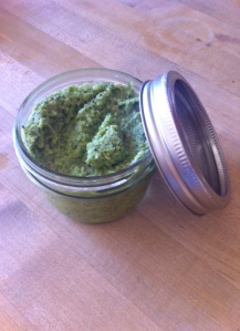 homemade green curry paste